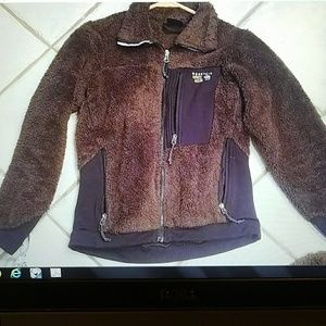 Mountain Hardwear Brown zipper fleece jacket small